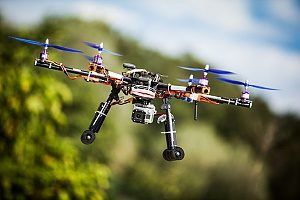a drone being used in the entertainment industry for aerial photography and videography