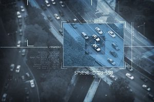 surveillance image captured by a drone that is covered by drone insurance